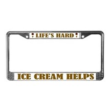 Ice Cream Helps License Plate Frame