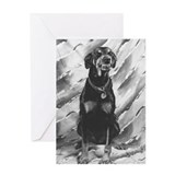 The Smiling Doberman Greeting Card