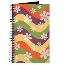 Floral Striped Hippie Art Journal
