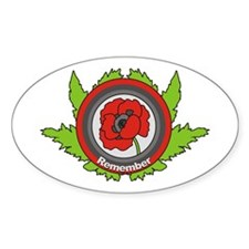 Remembrance Oval Decal