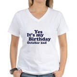 October 2nd Birthday Shirt