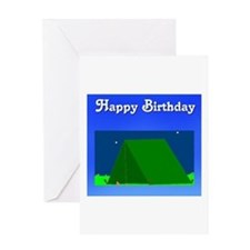 happy birthday camping look Greeting Card