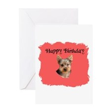 happy birthday yorkie look birthday Greeting Card