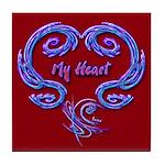 My Heart Red Art Tile