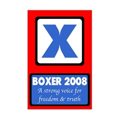 11x17 Boxer for President Poster
