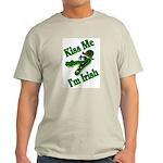 Kiss Me I'm Irish Ash Grey T-Shirt