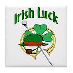 Kiss Me I'm Irish Tile Coaster