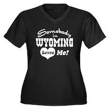 Somebody in Wyoming Loves Me Women's Plus Size V-N