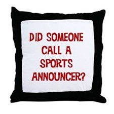 Sports Announcer Throw Pillow