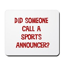 Sports Announcer Mousepad