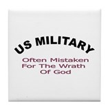 Funny Military design Tile Coaster