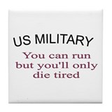 Cute Military design Tile Coaster