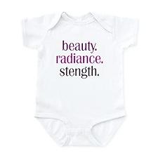 beauty.radiance.strength. Infant Bodysuit