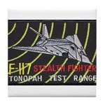 F-117 Stealth Tonopah Tile Coaster