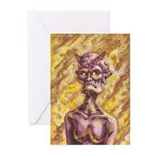 Woman Devil Greeting Cards (Pk of 20)