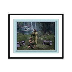 In the Garden - 12x9 Framed Print