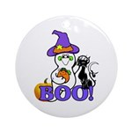Halloween Ghost Ornament (Round)