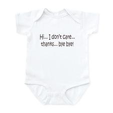 Dont Care Infant Bodysuit