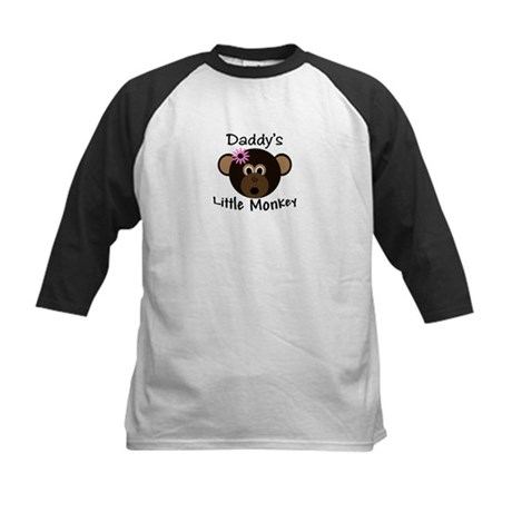 Daddy's GIRL Little Monkey Kids Baseball Jersey