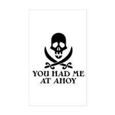 Ahoy Pirate Rectangle Decal