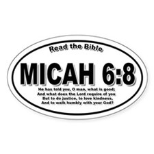 Micah 6:8 Oval Decal