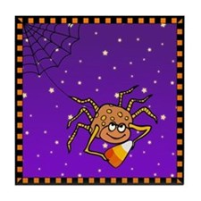 Candy Corn Spider Tile Coaster