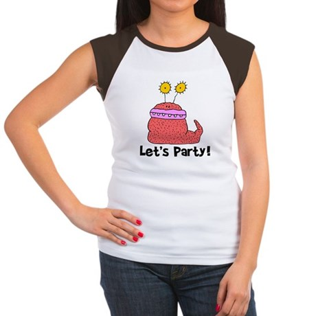 Let's Party Monster Women's Cap Sleeve T-Shirt