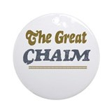 Chaim Ornament (Round)