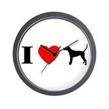 I Heart TW Coonhound Wall Clock