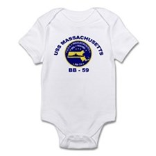 USS Massachusetts BB-59 Infant Bodysuit