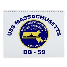 USS Massachusetts BB 59 Wall Calendar