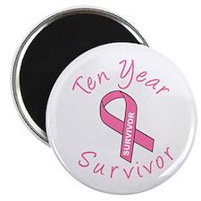 """Ten Year Survivor 2.25"""" Magnet (10 pack)"""