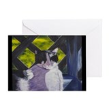 Sun Nap Cat Greeting Card