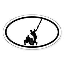 Cricket Batsman Oval Bumper Stickers