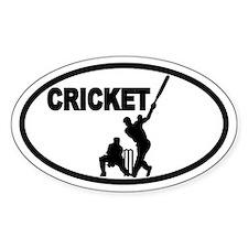 Cricket Batsman Oval Decal