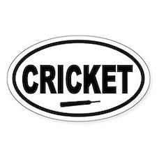 Cricket Bat Oval Stickers
