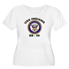 USS Indiana BB 58 Women's Plus Size Scoop Neck Tee