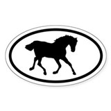 Horse Oval Bumper Stickers