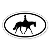 Equestrian Horse and Rider Oval Decal