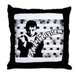 Funny Black n white Throw Pillow