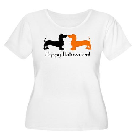 Dachshund Halloween Women's Plus Size Scoop Neck T
