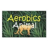 TOP Aerobics Animal Rectangle Decal