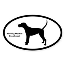 Treeing Walker Coonhound Silhouette Decal