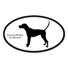 Treeing Walker Coonhound Silhouette Decal