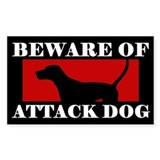 Beware of Attack Dog TW Coonhound Decal