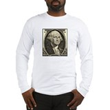 George Washington, $1 Portrait Long Sleeve T-Shirt