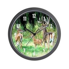 Whitetail Family Wall Clock