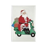 Motorcycle Santa Rectangle Magnet