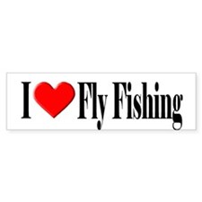 I Heart Fly Fishing Bumper Bumper Sticker
