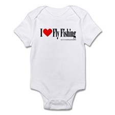 I Heart Fly Fishing Infant Bodysuit